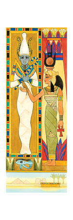 Isis (Right) and Osiris, Egyptian Mythology Posters by  Encyclopaedia Britannica