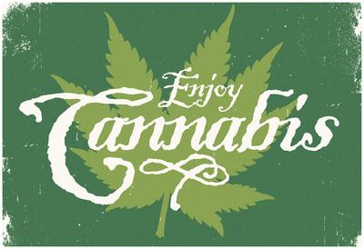 Enjoy Cannabis (Forestgreen) Print