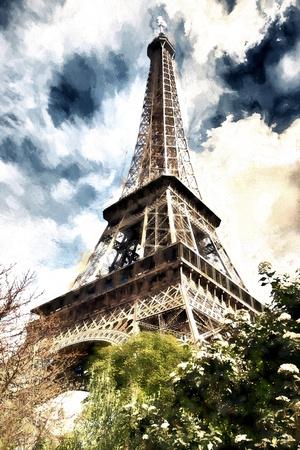 Eiffel Paris Giclee Print by Philippe Hugonnard