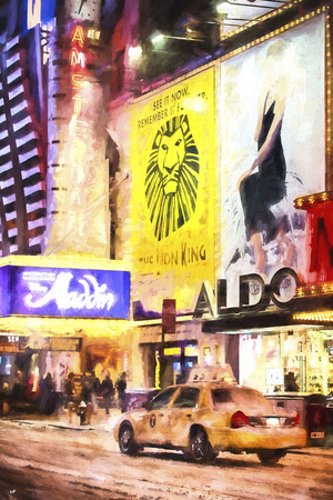 Broadway under the snow Giclee Print by Philippe Hugonnard