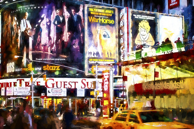 Times Square Guest Giclee Print by Philippe Hugonnard