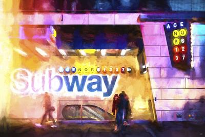 NYC Subway Giclee Print by Philippe Hugonnard