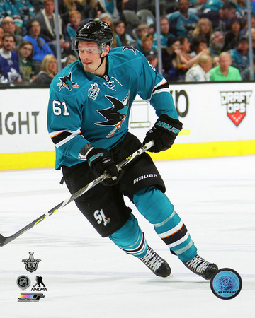 Justin Bruan San Jose Sharks Action Photo