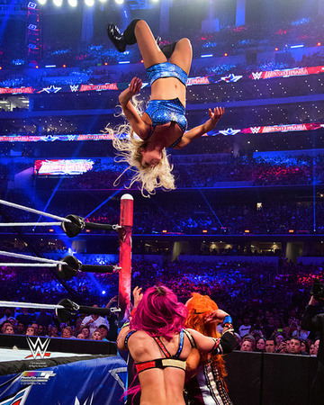 Charlotte Wrestlemania 32 Action Photo