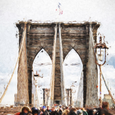 Brooklyn Bridge - In the Style of Oil Painting Giclee Print by Philippe Hugonnard