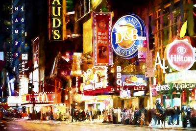 NY Night Life Giclee Print by Philippe Hugonnard