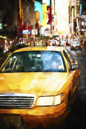 Taxi cab Giclee Print by Philippe Hugonnard