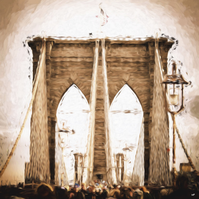 Brooklyn Bridge II - In the Style of Oil Painting Giclee Print by Philippe Hugonnard
