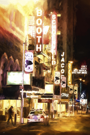 Broadway Musical Night Giclee Print by Philippe Hugonnard