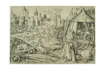 Judith, C.1495 (Engraving on Ivory Laid Paper) Giclee Print by Israhel van, the younger Meckenem