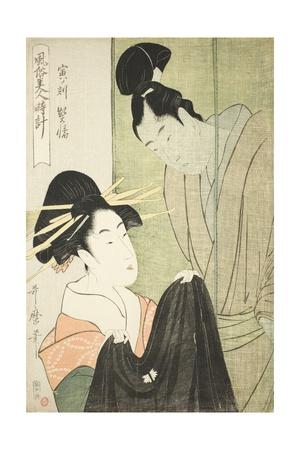 Hour of the Tiger, Courtesan (Tora No Koku, Keisei), C.1798-1800 Giclee Print by Kitagawa Utamaro