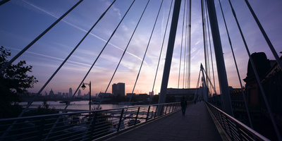 Hungerford Bridge at Dawn, London Photographic Print by Richard Bryant