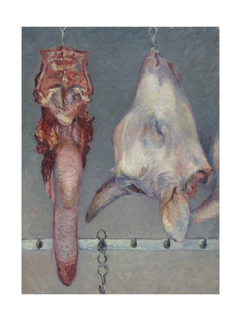 Calf's Head and Ox Tongue, C.1882 Giclee Print by Gustave Caillebotte