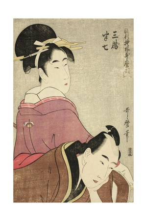 Sankatsu and Hanshichi, from the Series Fashionable Patterns in Utamaro Style, C.1798-99 Giclee Print by Kitagawa Utamaro
