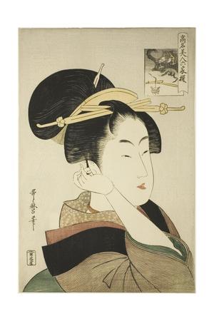 Tatsumi Roko, from the Series Renowned Beauties Likened to the Six Immortal Poets, C.1794-96 Giclee Print by Kitagawa Utamaro