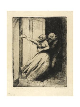 The Rape, Plate Eight from Woman, C.1886 Giclee Print by Paul Albert Besnard