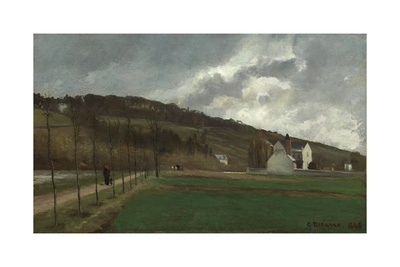 The Banks of the Marne in Winter, 1866 Giclee Print by Camille Pissarro