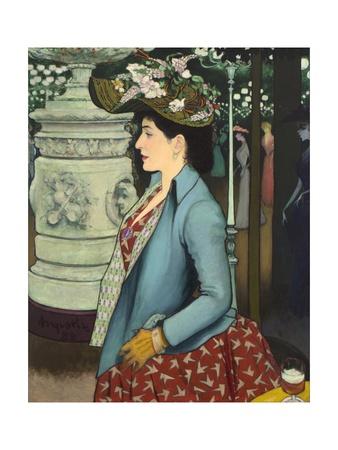 An Elegant Woman at the Élysée Montmartre (Élégante À L'Élysée Montmartre), 1888 Giclee Print by Louis Anquetin