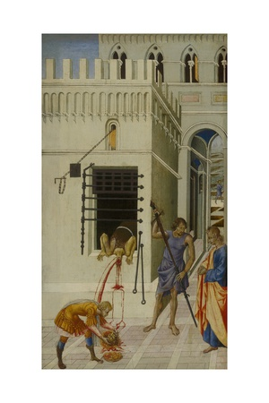The Beheading of Saint John the Baptist, 1455-60 Giclée-tryk af Giovanni di Paolo