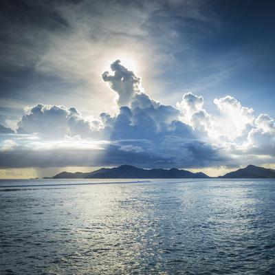 Praslin Island from Anse Source D'Argent Beach, La Digue, Seychelles Photographic Print by Jon Arnold
