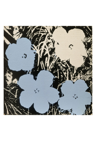 Flowers, 1965 (3 blue, 1 ivory) Poster di Andy Warhol