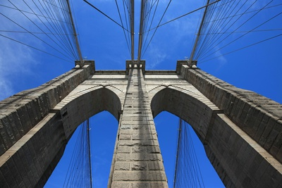 Brooklyn bridge, New York City, USA. September 16, 2012 Photographic Print by Gilles Targat