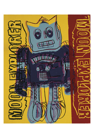 Moon Explorer Robot, 1983 (blue & yellow) Prints by Andy Warhol