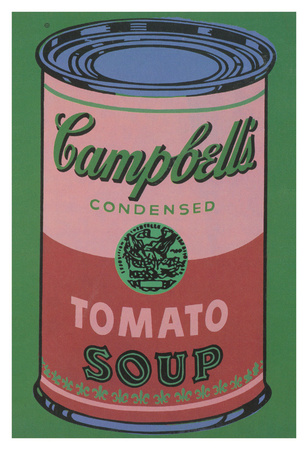 Colored Campbell's Soup Can, 1965 (red & green) Art by Andy Warhol