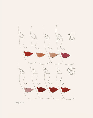Untitled (Female Faces), c. 1960 Stampe di Andy Warhol