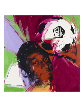 Pelé, c. 1977 Art by Andy Warhol