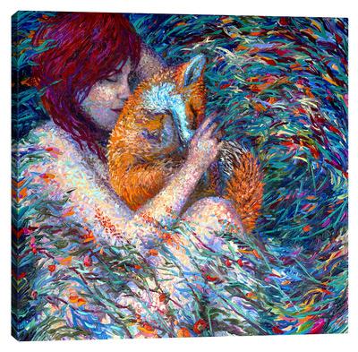 Fox Glove Stretched Canvas Print by Iris Scott