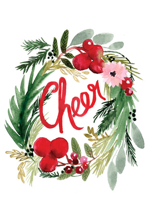 Cheer Wreath Posters by Sara Berrenson