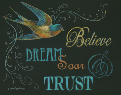 Believe & Bird Prints by Babbitt Gwendolyn