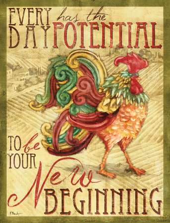 Daybreak Rooster I Prints by Paul Brent