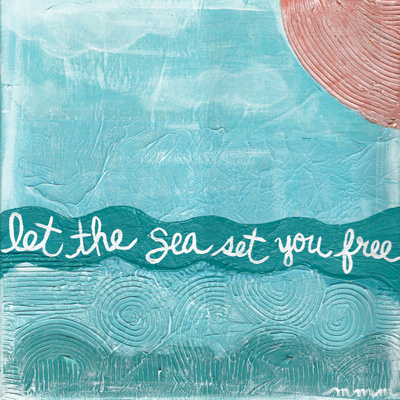 Let The Sea Posters by Monica Martin