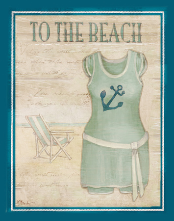 Vintage Bathing Suit IV Poster by Paul Brent