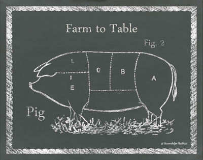 Sectioned Pig Prints by Gwendolyn Babbitt