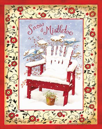 Snow & Mistletoe Prints by Gwendolyn Babbitt