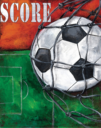 Soccer Posters by Donna Knold