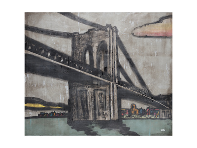 Brooklyn Bridge Giclee Print by Tyson Estes