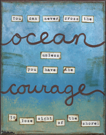 Ocean Courage Posters by Monica Martin