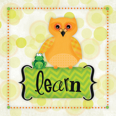 Owl Learn Print by Squared R2