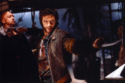Hugh Jackman as Wolverine in X-Men Movie on a Fight Scene Photo by  Movie Star News