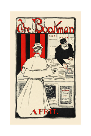 The Bookman, April Posters by James Montgomery Flagg