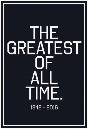 In Respects To The G.O.A.T. 1942 - 2016 Vintage White Prints