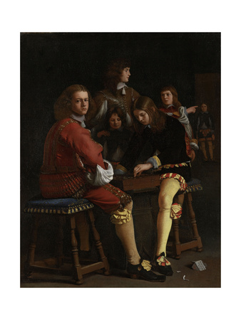 Draughts Players, Checkers Print by Michael Sweerts