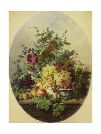 Stilleven Met Vruchten En Bloemen Posters by Louis Martinet