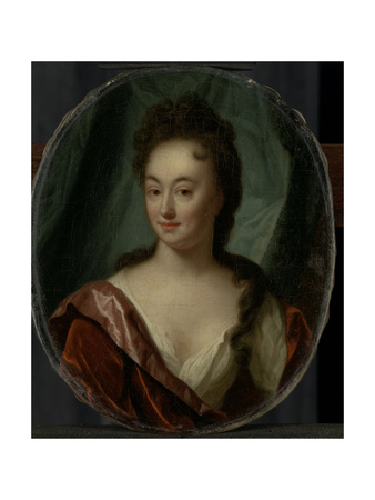 Miss Van Gool, Lady Companion of Clara Van Citters Prints by Godfried Schalcken