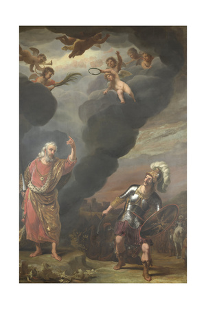 Captain of Gods Army Appearing to Joshua Póster por Ferdinand Bol