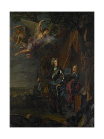 Portrait of Maximilian II, Elector of Bavaria, at the Battle of Mohacs Against the Turks Poster von Joseph Vivien
